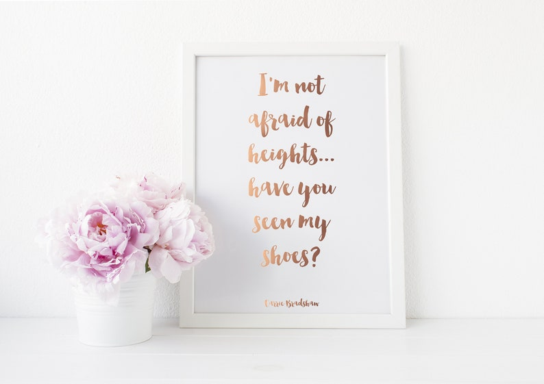 Gold Foil Print  Carrie Bradshaw Quote Print  I'm Not image 0