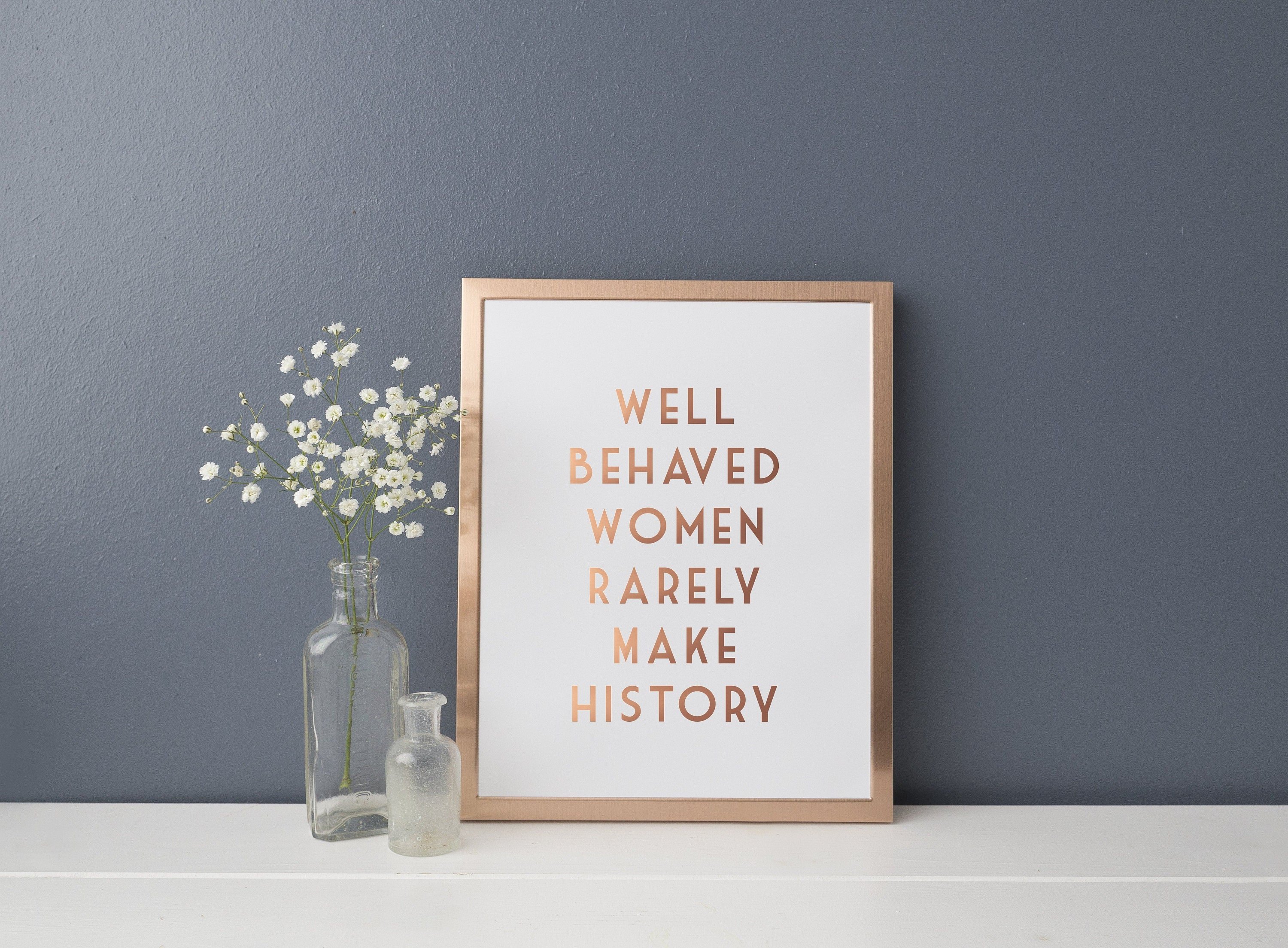 Gold Foil Print Eleanor Roosevelt Quote Print Well Behaved Etsy
