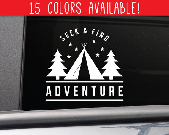 Nashville Decals Seek and Find Adventure Vinyl Decal Laptop Car Truck Bumper Window Sticker