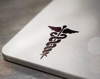 Caduceus Medical Symbol Laptop Decal Sticker