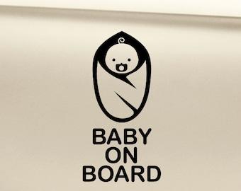 Baby on Board Vinyl Decal Sticker