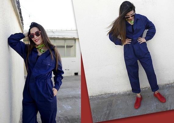Royal Blue Italian vintage workwear / Mechanic jum