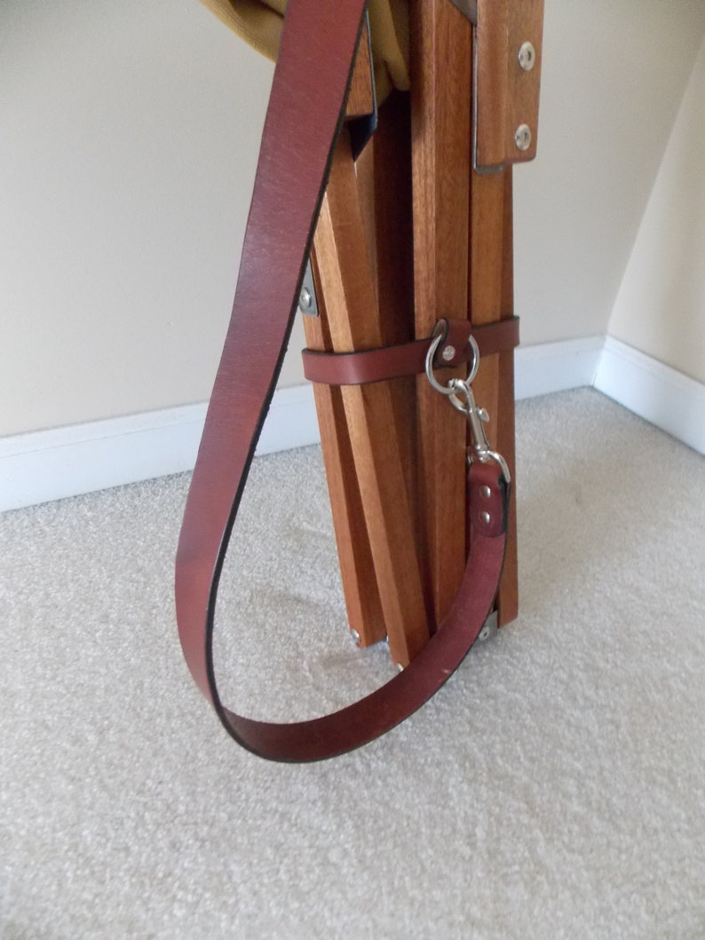 Leather Carry Strap System for Tripolina Chairs