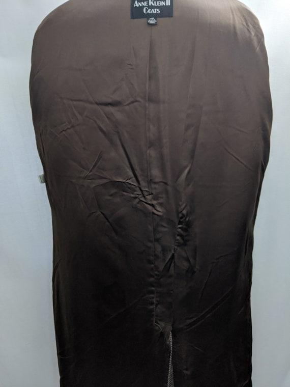 70s Vintage Anne Klein II wool tweed maxi coat si… - image 5