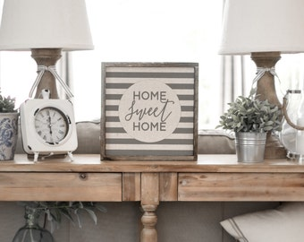 Home Sweet Home  // 13x13 Handmade Sign