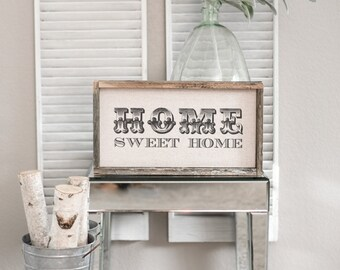 Home Sweet Home  // 17 x 9 Handmade Sign