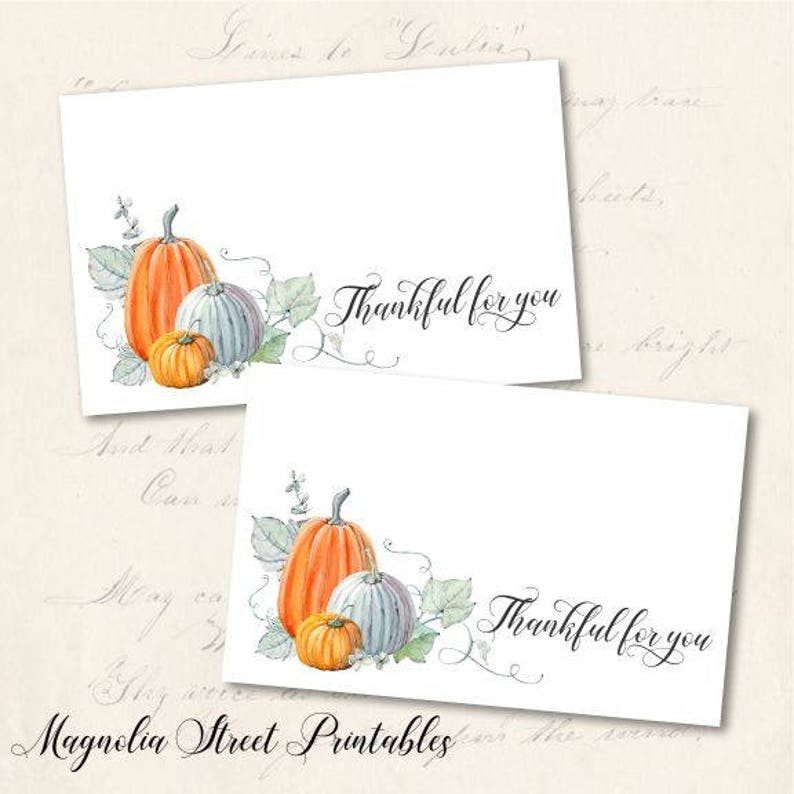 graphic about Printable Thanksgiving Place Cards identified as Printable Thanksgiving Vacation spot Playing cards, Do it yourself Grateful for Yourself Tented and Flat Desk Decor Playing cards, Instantaneous Electronic Down load