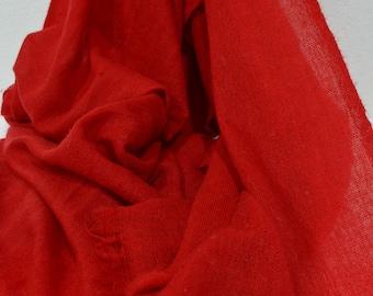 Bold Red Cashmere Scarf Shawl Stole Wrap Throw Pashmina shawl Nepalese Handmade cashmere shawl scarf wrap accesoires