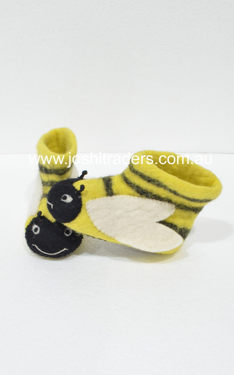 Warm felt slippers boots winter boots for children animal image 0
