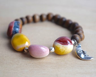 Mookaite / boho bracelet ideas, chunky bracelet gift, beaded jewelry ideas,  meditation bracelets, energy bracelet, nature inspired, group 5