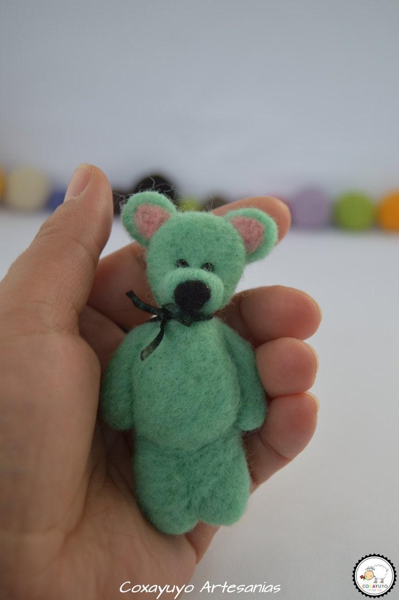 Bear brooch needle felting bear brooch brooches needlefelt handmade sheep wool felted sculpture