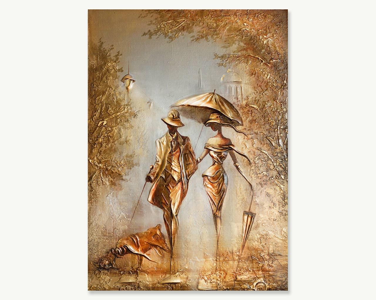 Textured Original Oil Acrylic Canvas Painting Modern