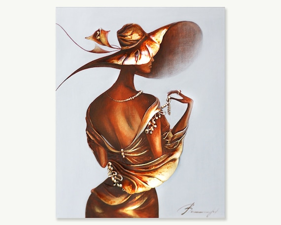 Mujeres vestidas con pintura