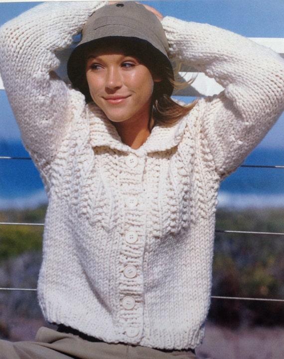 c732fcbf1abdec Knitting Pattern Ladies  Woman s Super Chunky Quick Knit
