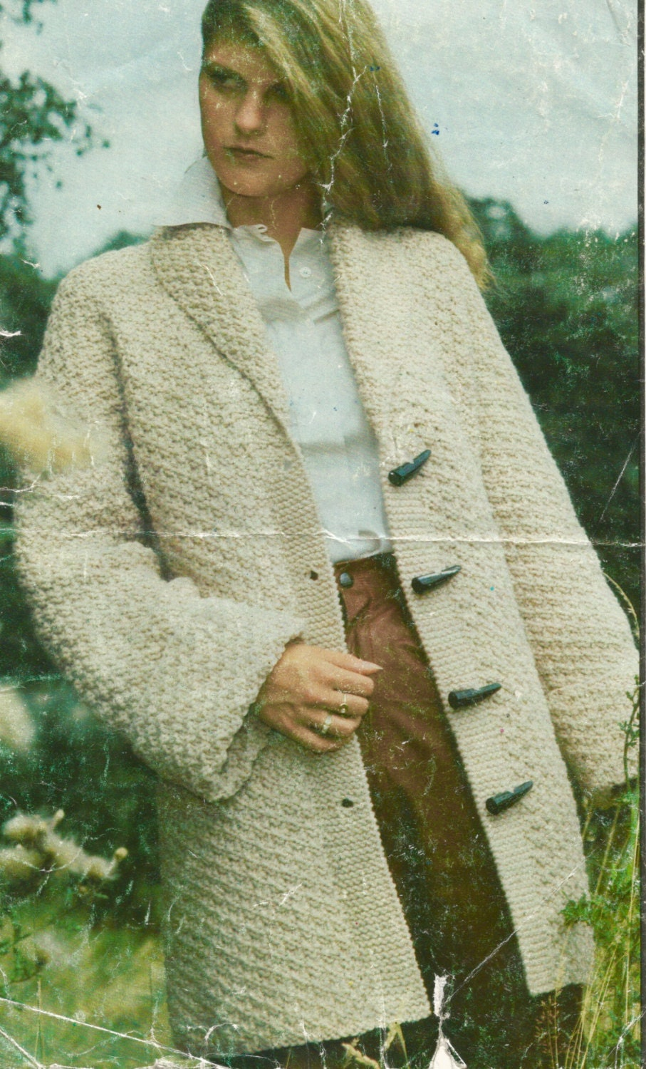77bac92ad029fb Ladies Woman s Coat Jacket Chunky Bulky Knitting Pattern