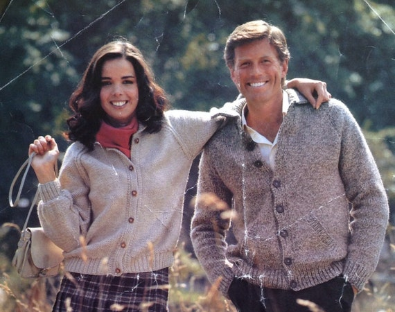 0d2d2180b2a348 Knitting Pattern Ladies Woman s Mens Chunky Cardigan size