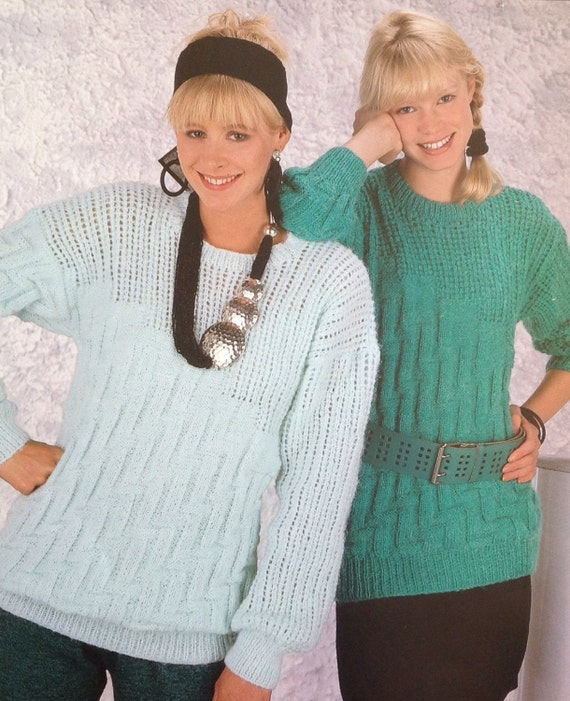f25edf3ca84727 Knitting Pattern Ladies Girls  Women s DK Light Worsted