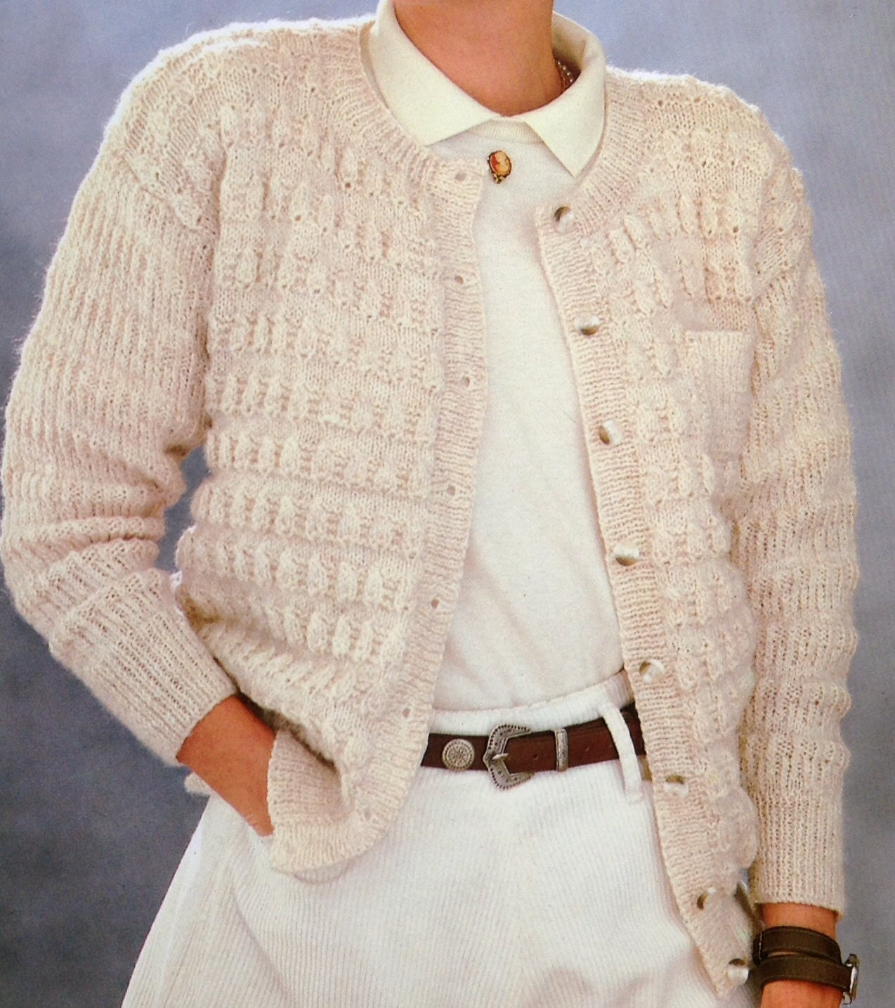 1ca50db49ec563 Knitting Pattern Ladies Women s DK Cardigan Size 32-38in