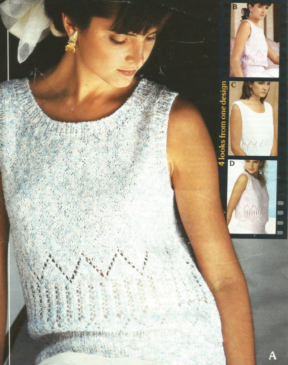 189bfaba7e1d4d Knitting Pattern Ladies Woman s Girls Easy Knit Summer Top