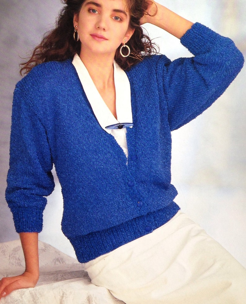 01b54c3b624832 Easy Knitting Pattern Ladies Woman s Girls Cardigan