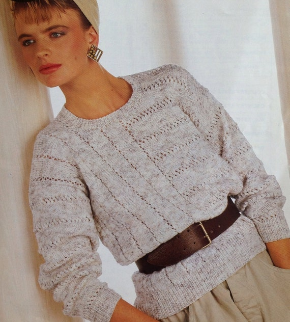 531f226a026625 Knitting Pattern Ladies Woman s  Girls Sweater Jumper DK