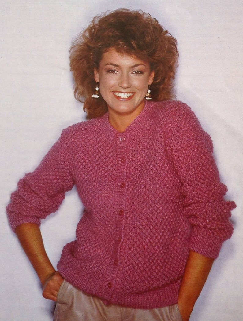 2f07a4db962454 Knitting Pattern Ladies  Women s Cardigan size 32-42in