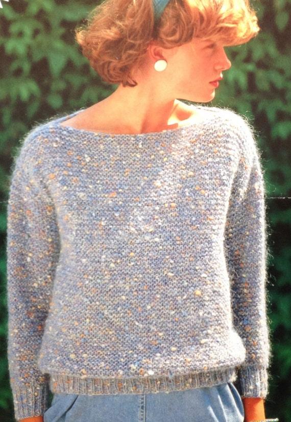 Easy Garter Stitch Knitting Pattern Girlsladieswomens Etsy