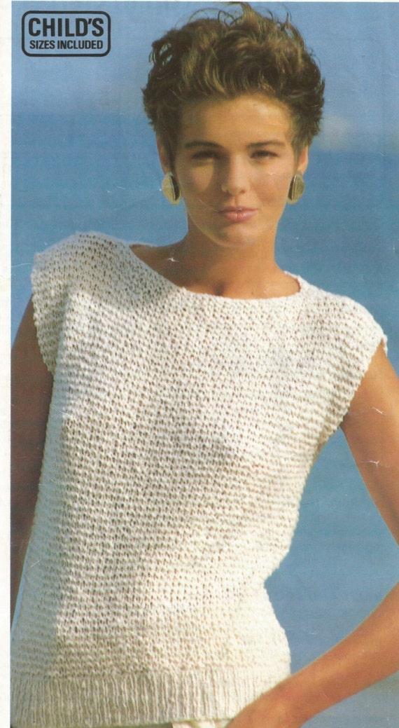 Fácil de tejer patrón chicas / Top de damas en Liga puntada | Etsy