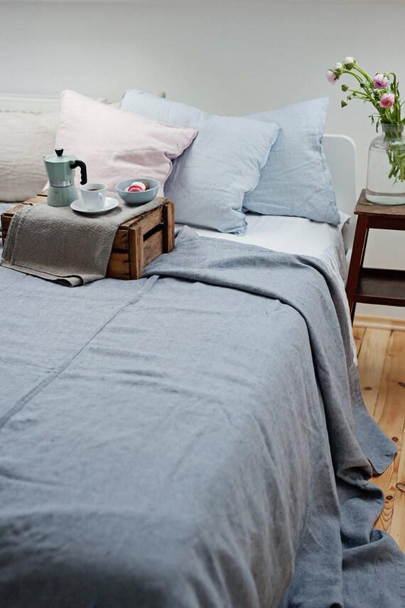 hnliche artikel wie king size bett leineneinband leinen werfen leinen bettw sche perfekt f r. Black Bedroom Furniture Sets. Home Design Ideas