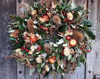 Fresh and Dried Full Autumn Wreath