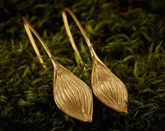 Eleganti orecchini di oro donna floreale unico donaldtrieste argento dorato