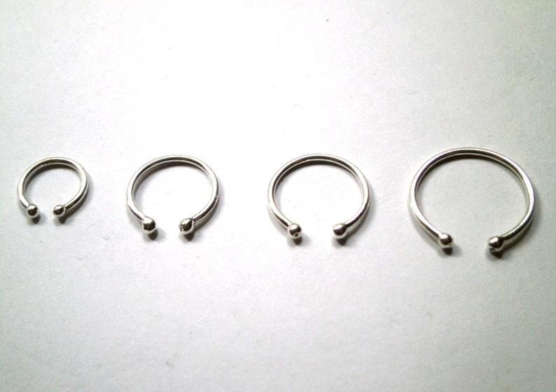 Silver ear cuff stainless steel cross slim earrings Non-Piercing unisex