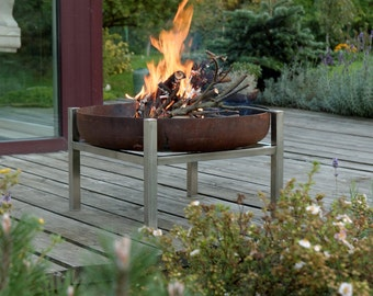 Steel Fire Pit Crate (Tall)