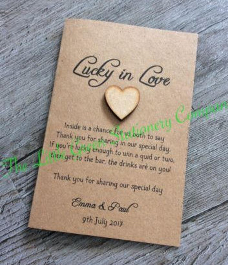 10 x vintage rustic personalised wedding favour lottery  etsy