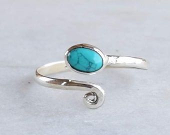 Toe Ring, Stone Toe Ring, Turquoise Toe Rings, Sterling Silver Toe Ring , Bohemian Toe Ring, Silver Ring, Toe Jewellery, Gypsy Toe Ring,