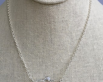 Swarovski Crystal Cross Necklace, Sterling Silver