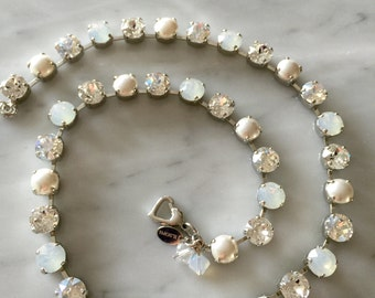 Snow and Ice Crystal Necklace, Crystal Bridal Necklace