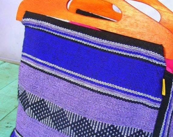 hand bag wood and textil hand made *BOLSO ASA MADERA* hecho a mano, grecas, tejido en telar, etnico-boho, bolso de mano mexicano artesanal