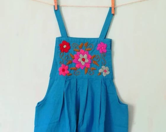 dress * CHILAC * BLUE size. 12 years hand embroidered
