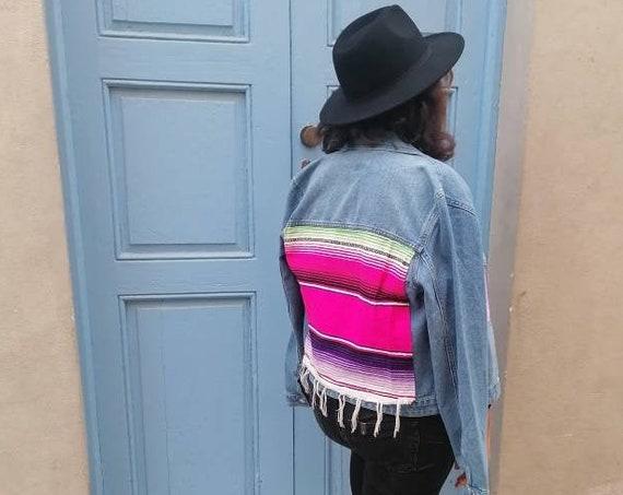 Cowgirl Jacket *ZARAPE* Oversized customized boho gypsy T M-L
