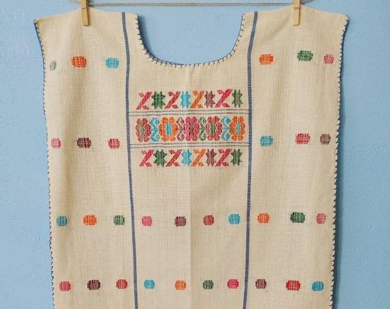 Huipil blouse * AMUZGO * one size, handwoven, Mexican blouse, bohemian style, vintage shirt, cotton top, handmade fashion, beach shirt