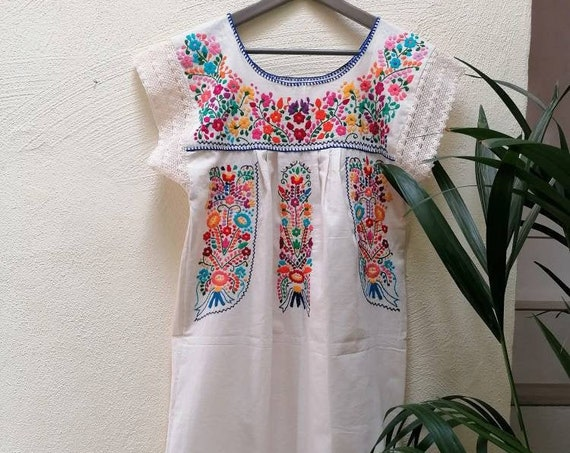 mexican dress*TEHUACAN* T.XL