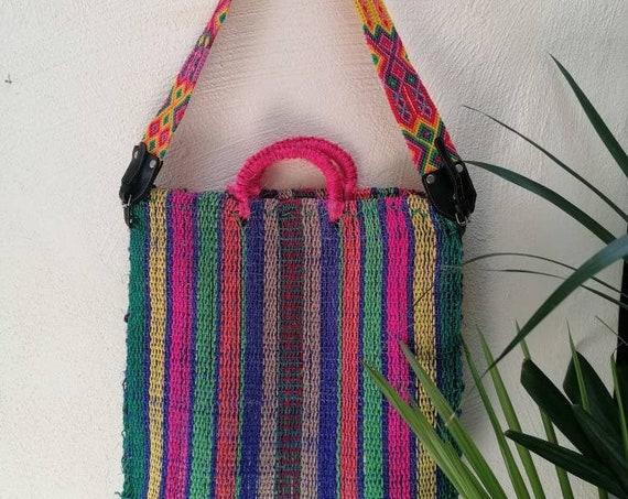 beach bag *BOLSO IXTLE* bolso de mano, sizal, tejido con cuerda, playa, eco bag, bolso ecológico, bolso a rayas, striped bag, boho vintage