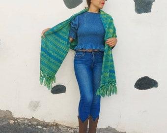 Unisex long scarf * REBOZO * blue-gray, bohemian pashmina, midwife baby sling, doula rebozo, Hypnobirthing rebozo, baby wrap, Mexican rebozo