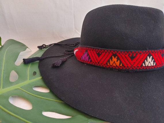 Hat shawl * SAN ANDRÉS * hat band, woven belt, headband, embroidered band, cotton band, bohemian style, vintage