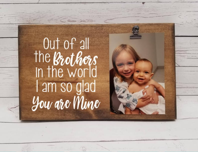 BROTHER Picture Frame gift Gift for mom photo board picture image 0