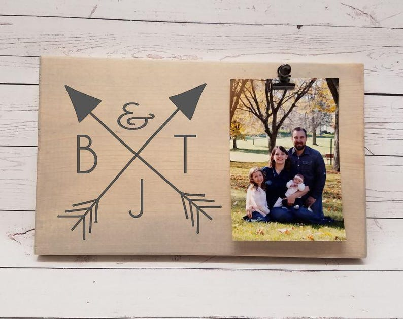 Tribal Arrow Monogram Initial Picture Frame gift Gift for image 0