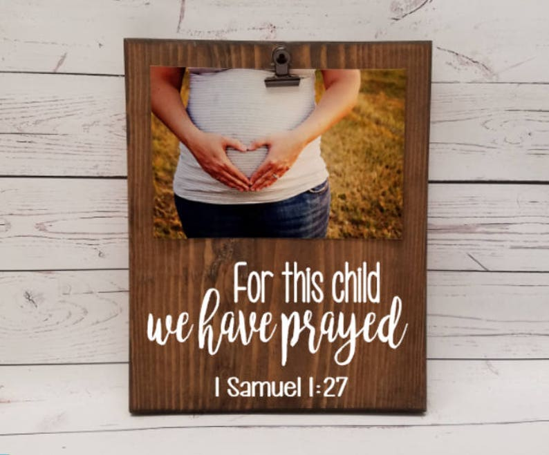 For this child we have prayed Samuel 1:27 Picture frame image 0