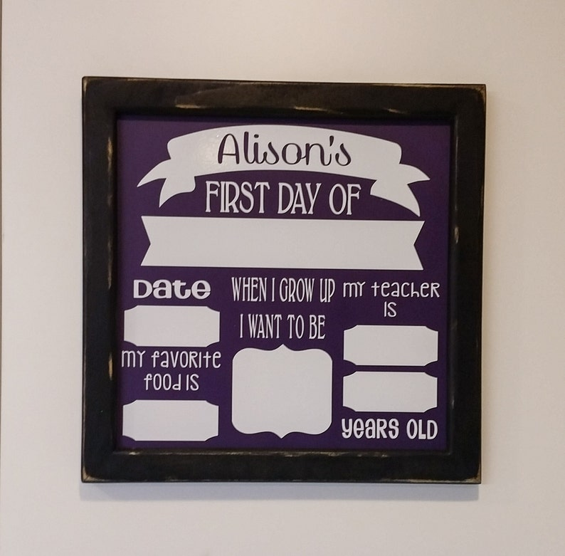 First Day of School Photo Board Prop. OR Last Day of School. image 0