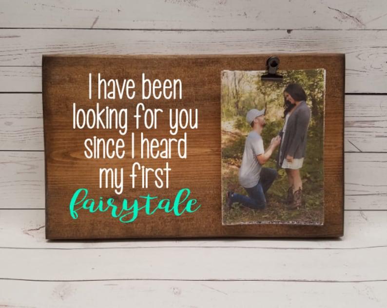 de0de86ef1e8 Fairytale love Picture Frame Gift Long Distance Relationship